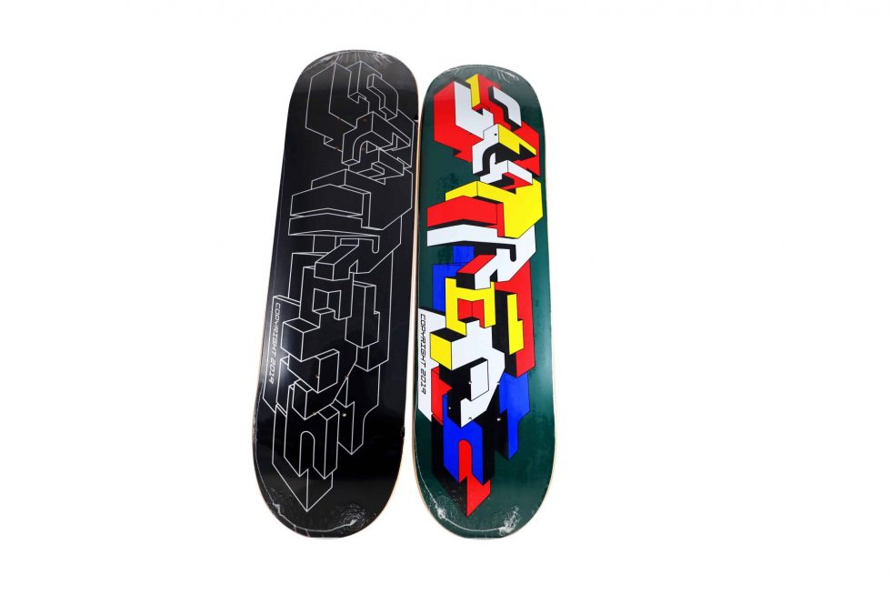 Lot #7265 – Delta x Supreme Logo Skateboard Decks Skateboard Decks [tag]