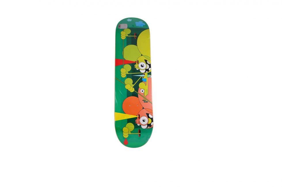 Lot #9716 – Dalek Skate Monkey Skateboard Deck Skateboard Decks Dalek Space Monkey