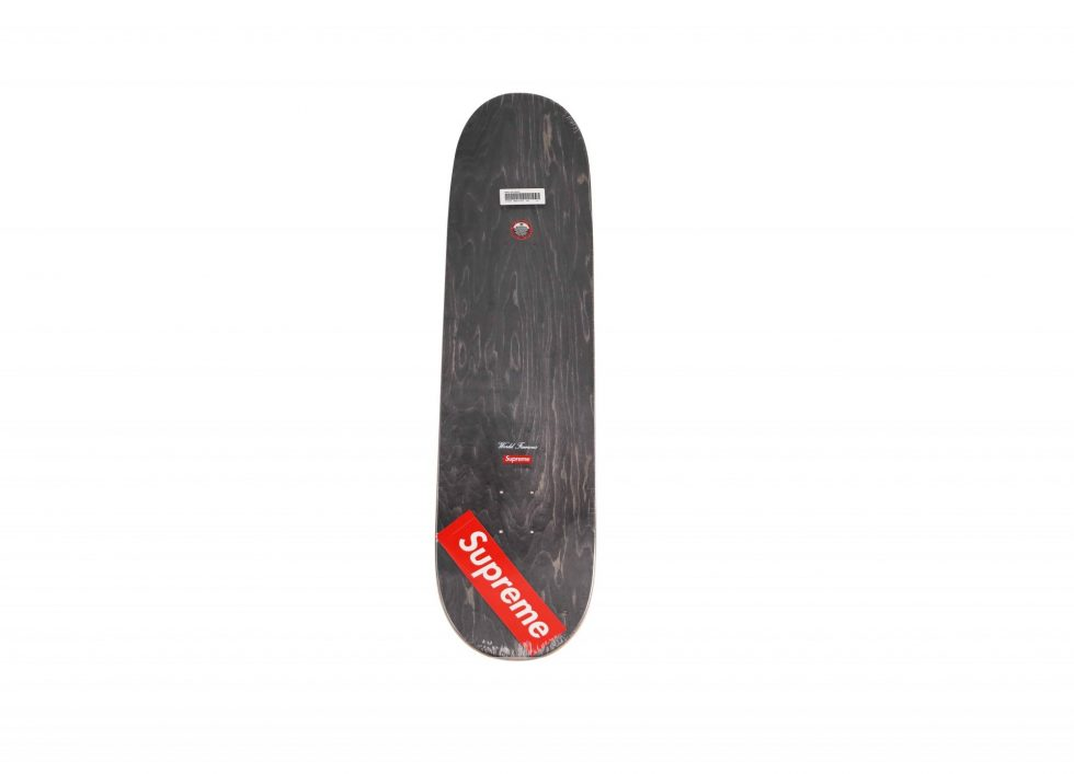 Lot #9809 – Supreme Smoke Red Skateboard Deck Skateboard Decks [tag]