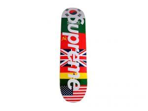 Lot #7262 – Supreme Flags Skateboard Deck Skateboard Decks [tag]