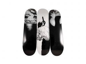 Lot #10602– Robert Longo x Supreme Skateboard Deck Set of 3 Skateboard Decks [tag]