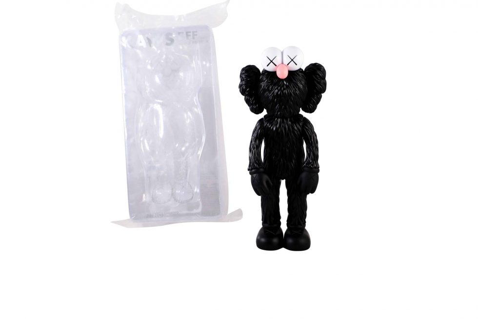 Lot #8713 – KAWS BFF Black Vinyl Figure Sculpture Open Edition Art Toys KAWS BFF