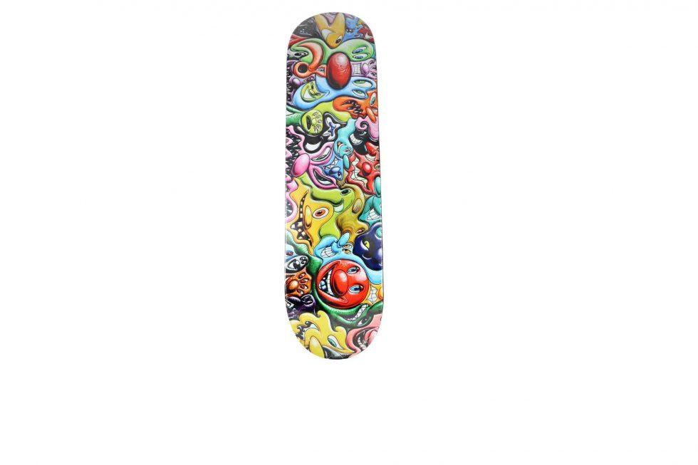 Lot #7278A – Kenny Scharf x Make Skateboards Skate Deck Skateboard Decks [tag]