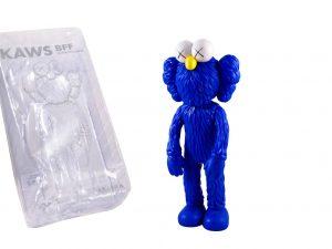 Lot #7449 – KAWS BFF Blue Vinyl Figure Sculpture Open Edition Art Toys [tag]