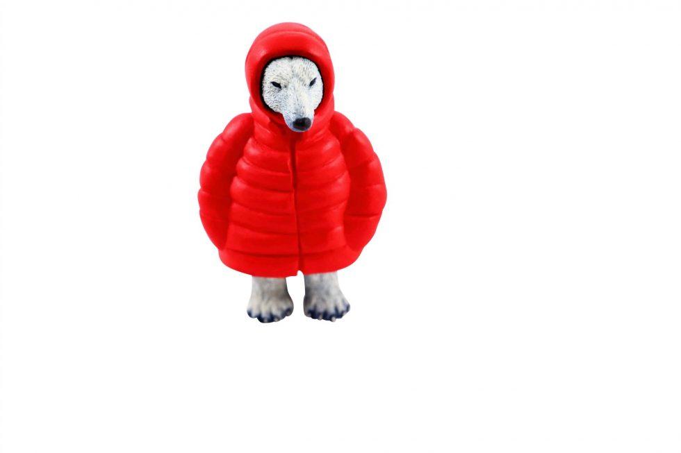 Lot #8781 – Steve Ferrera Parka Polar Bear Red Art Toys [tag]