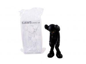 Lot #8647 – KAWS Small Lie Black Vinyl Figure Sculpture Open Edition Art Toys [tag]