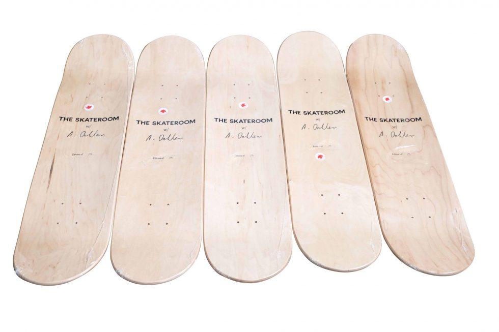 Lot #9702 – Albert Oehlen Skateboard Skate 5 Deck Set Limited Edition Skateboard Decks [tag]