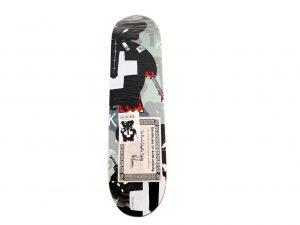 Lot #11195– Frank Kozik Signed Dr Bomb Stealth Skateboard Skate Deck Skateboard Decks [tag]