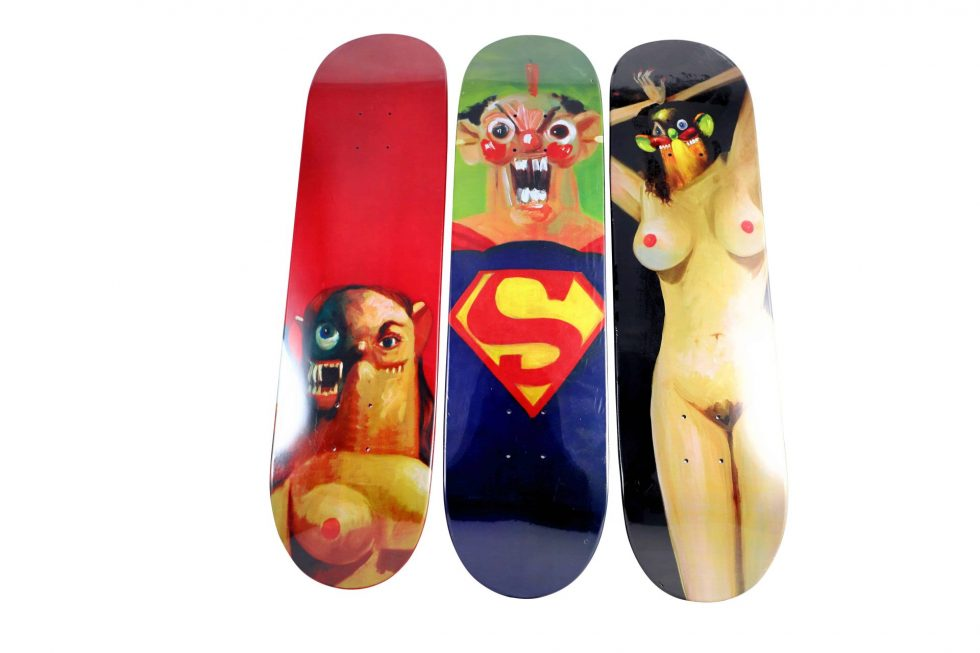 Lot #9726 – George Condo x Supreme Skateboard Deck Set Skateboard Decks [tag]