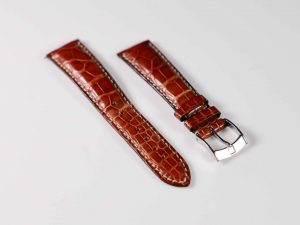 Lot #6292 – Zenith 20MM Alligator Strap with Zenith Tang Buckle 476 Watch Parts & Boxes Zenith Alligator Watch Strap