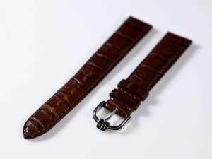 Lot #6298 – Dunhill 18MM Alligator Strap with Dunhill Tang Buckle Dunhill Dunhill Alligator Watch Strap