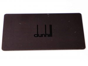 Lot #6306 – Dunhill Watch Warranty Card Dunhill [tag]