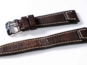 Lot #6307 – IWC 20MM Pilot Leather Strap with Generic Tang Buckle Watch Parts & Boxes [tag]