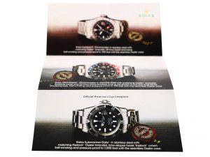 Lot #6349A – Rolex Explorer II GMT-Master Submariner Date Brochure Ephemera Vintage Ephemera Rolex Brochure