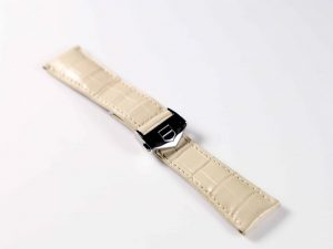 Lot #6324 – Tag Heuer 22MM Alligator Strap with Tag Heuer Deployant Buckle Tag Heuer Tag Heuer Alligator Watch Strap