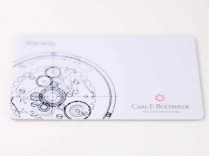 Lot #6329 – Carl F. Bucherer Watch Warranty Card Carl F Bucherer [tag]