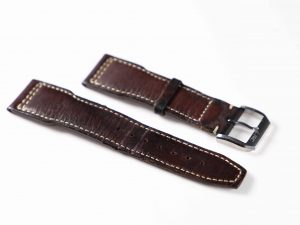 Lot #6333 – IWC Pilot 20MM Leather Strap with IWC Tang Buckle Watch Parts & Boxes [tag]