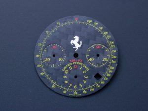 Lot #6346J – Girard Perregaux Ferrari 330/P4 Chronograph Black Carbon Fiber Dial Watch Part Girard Perregaux Girard Perregaux Chronograph Dial