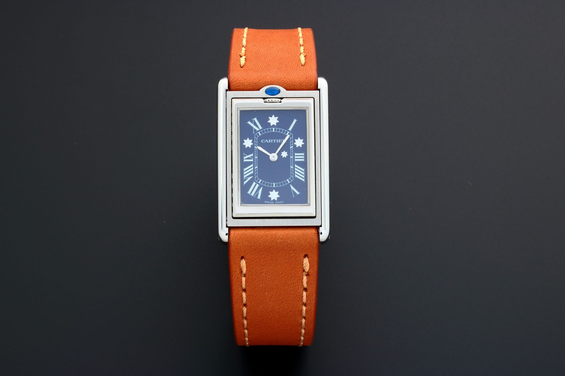 Rare Limited Edition Cartier Tank Basculante 2390 For The Australian Federation