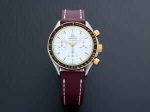 Lot #6600 – Omega Speedmaster Tutone White Dial Watch 175.0032 Omega Omega 175.0032