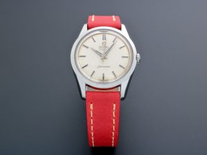 Lot #6601 – Vintage Omega x Turler 14710-1 SC Seamaster Watch with Linen Dial Omega Huguenin Frères