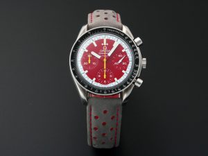 Lot #8965 – Omega Speedmaster Reduced Red Schumacher Chronograph Watch 3510.61 3510.61 Omega 3510.61.00