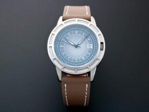 Lot #10456 – Rare Pierre Gaston Date Eastern Arabic Dial Watch Pierre Gaston Degrade Dial