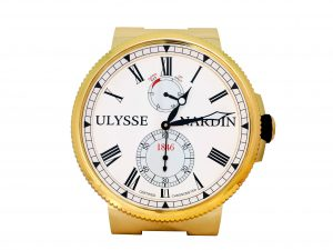Lot #6644 – Ulysse Nardin Marine Wall Clock Gold Tone Clocks Ulysse Nardin Clock