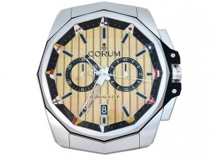 Lot #9643 – Corum Admiral's Cup Large Dealer Wall Clock Clocks Corum Admiral's Cup Wall Clock