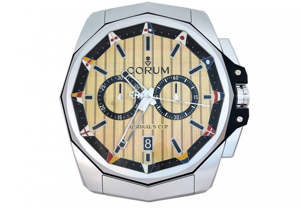 Lot #6649 – Corum Admiral's Cup Large Dealer Wall Clock Clocks Corum Admiral's Cup Wall Clock