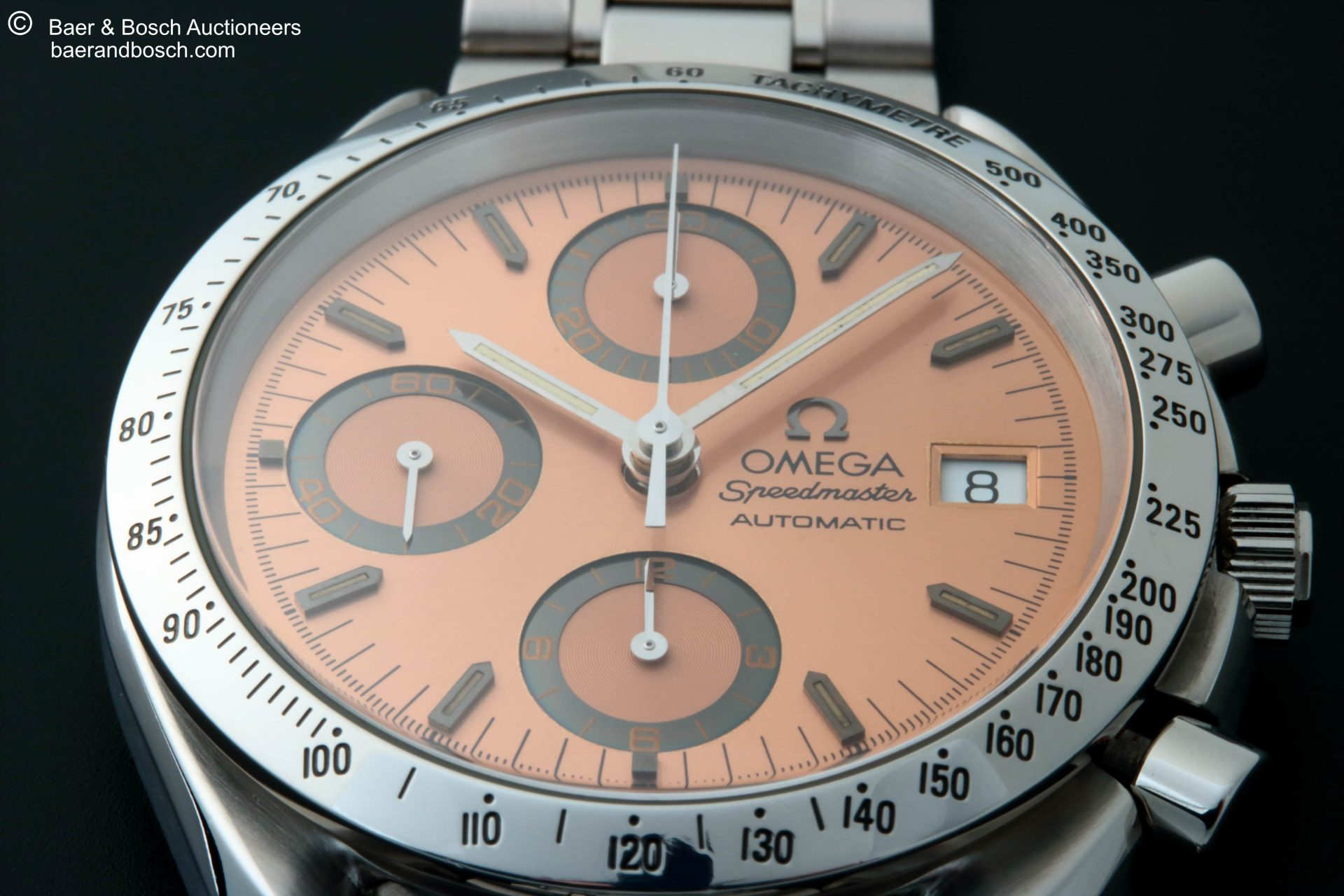 Omega Speedmaster Date Anniversary Salmon Copper Dial Watch 3511.60 - Baer & Bosch Collecting Times
