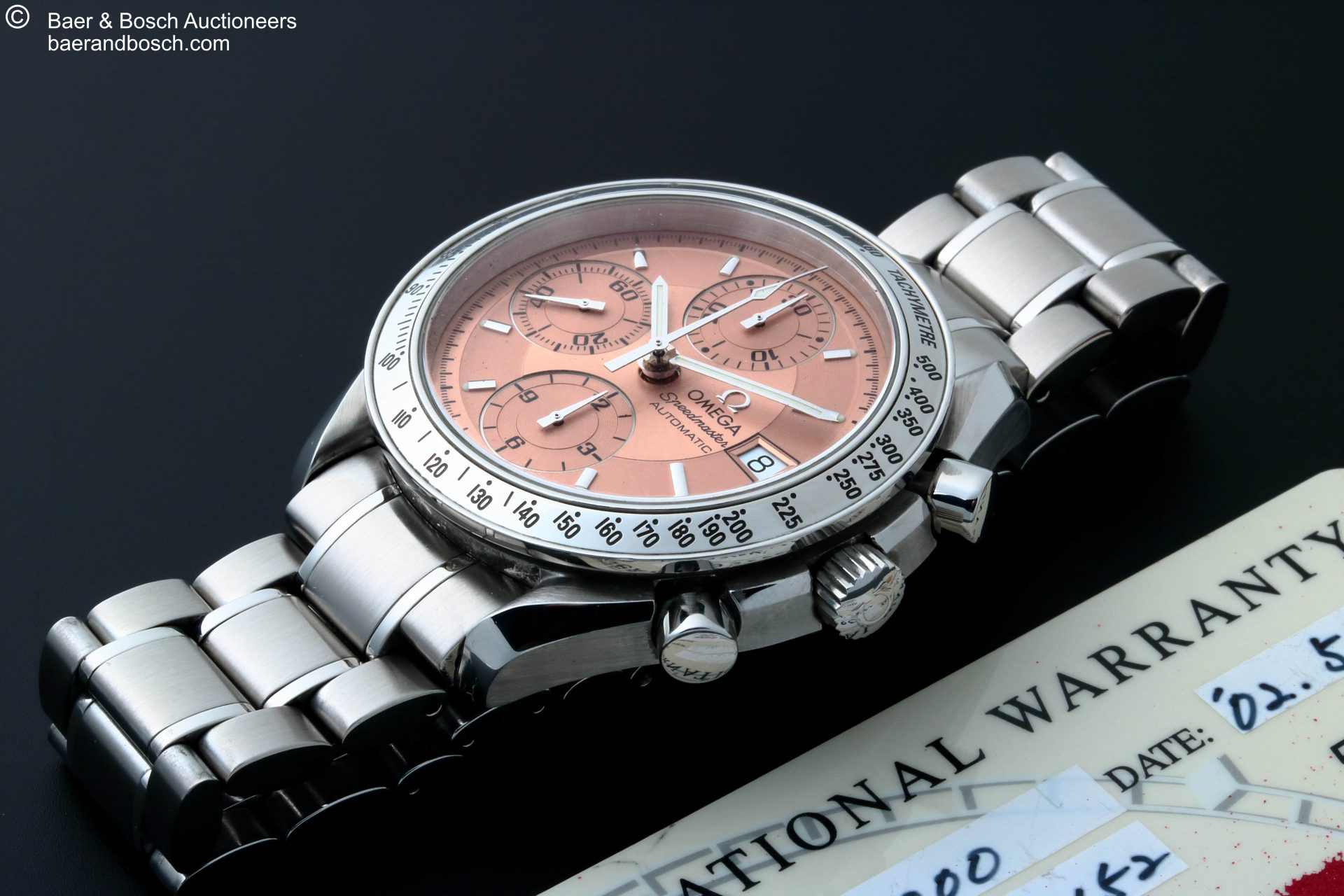 Omega Speedmaster Date Salmon Copper Dial Watch 3513.60 - Baer & Bosch Collecting Times