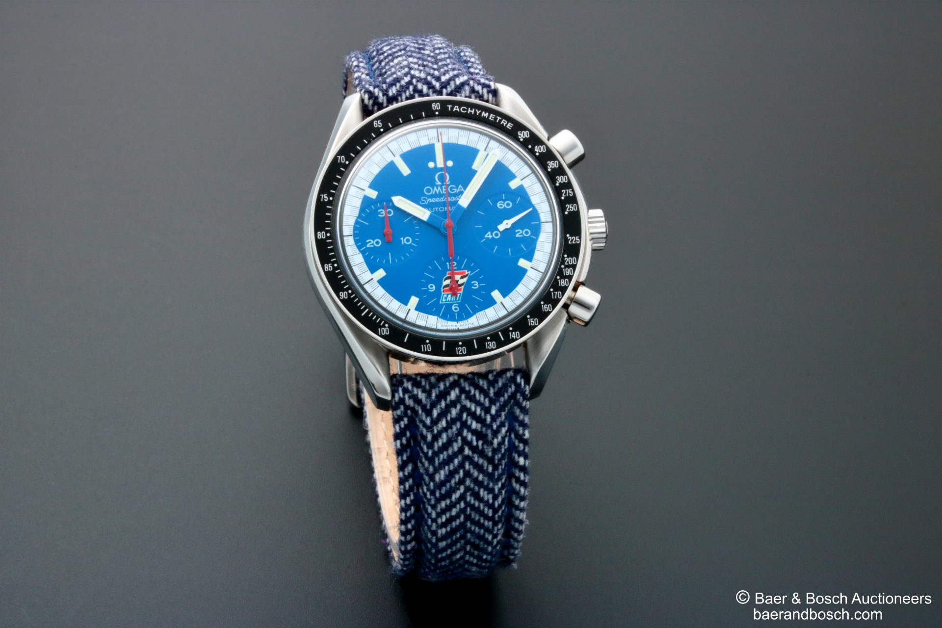Omega Speedmaster Blue Cart Dial Watch 3510.80 - Baer & Bosch Collecting Times