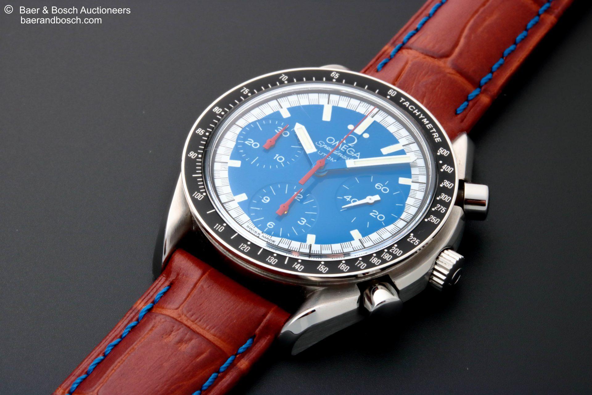 Omega Speedmaster Schumacher Blue Dial Watch 3510.81 - Baer & Bosch Collecting Times