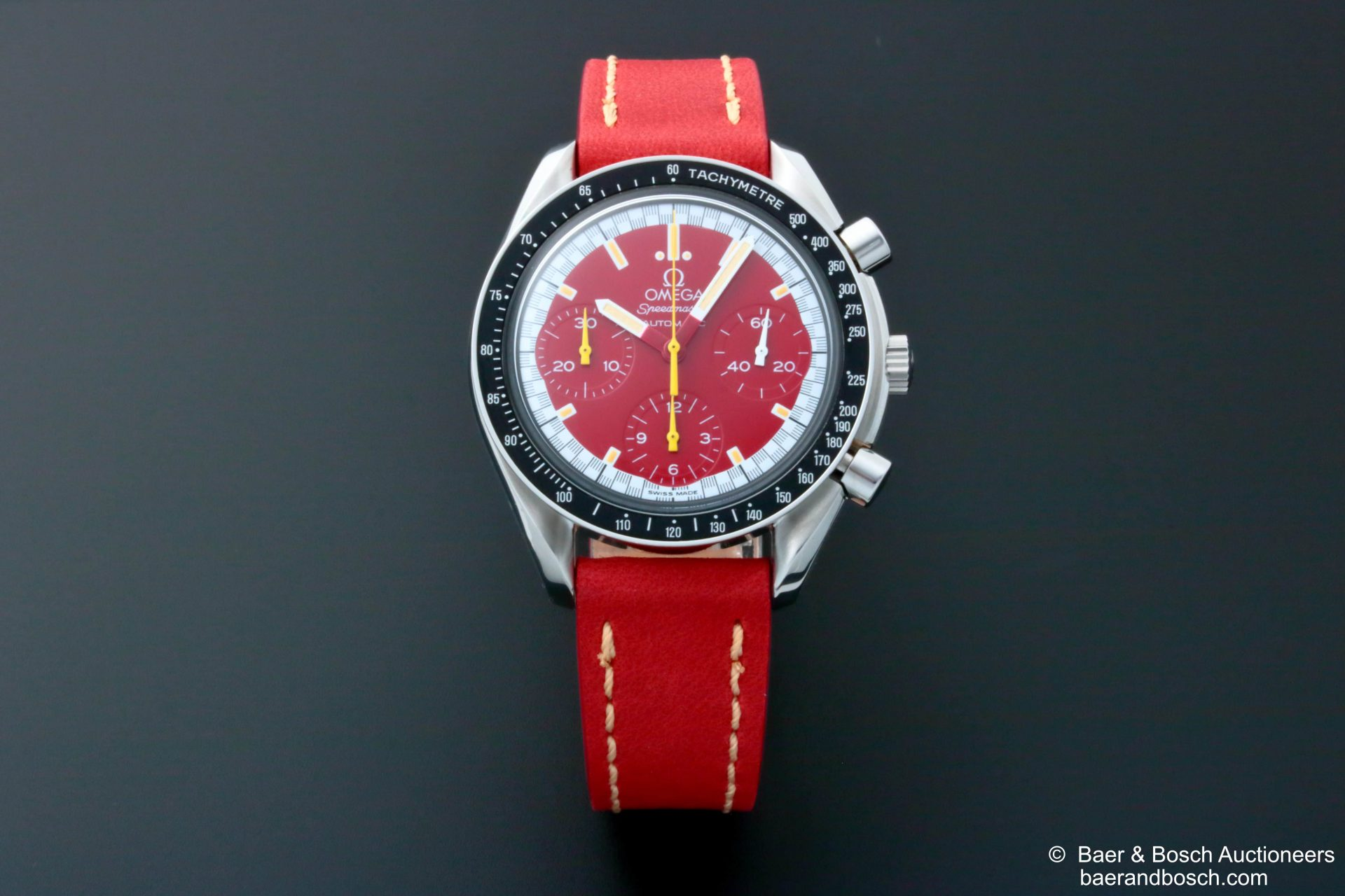 Omega Speedmaster Schumacher Red Dial Watch 3510.61 - Baer & Bosch Collecting Times
