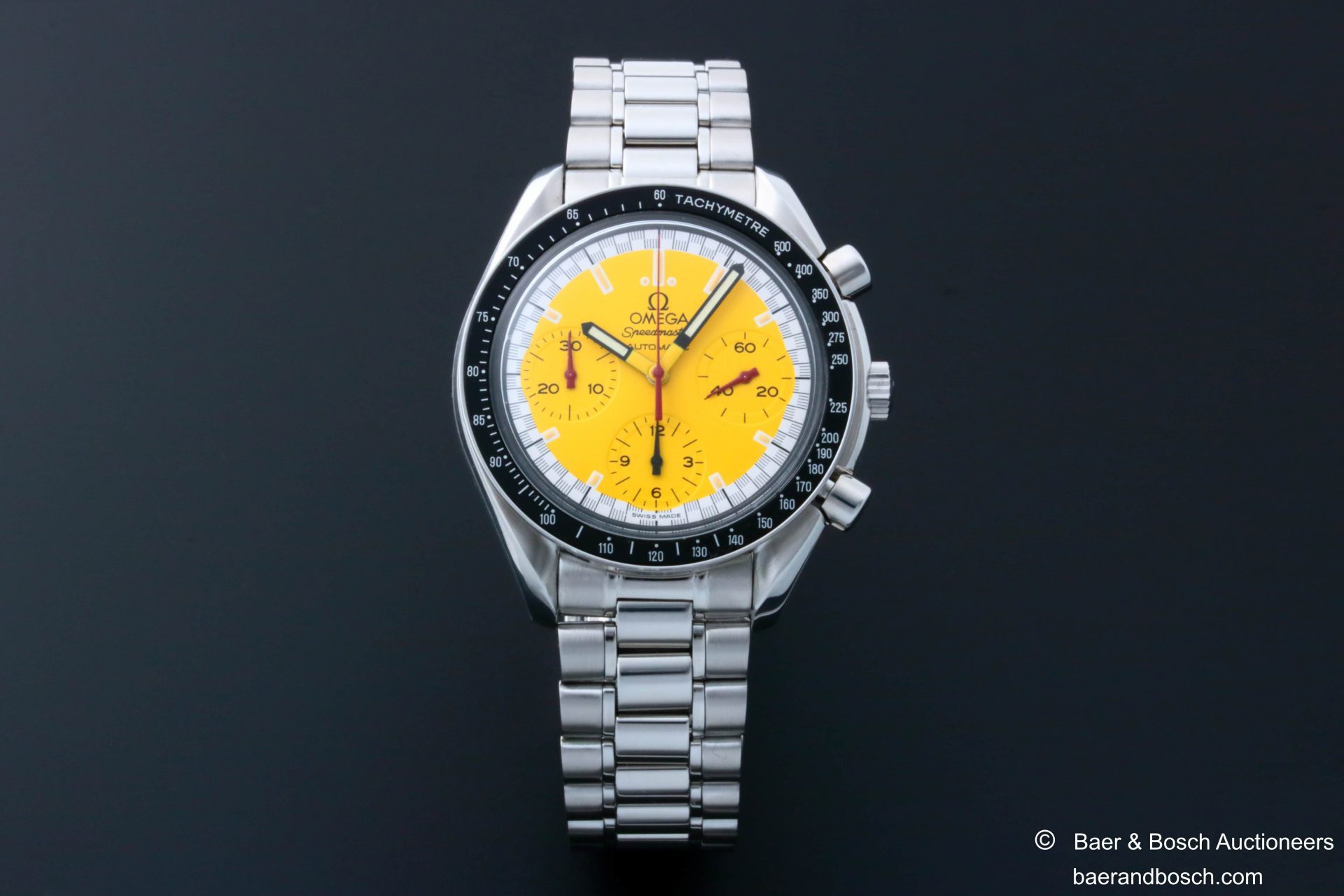 Omega Speedmaster Schumacher Yellow Dial Watch 3510.12 - Baer & Bosch Collecting Times