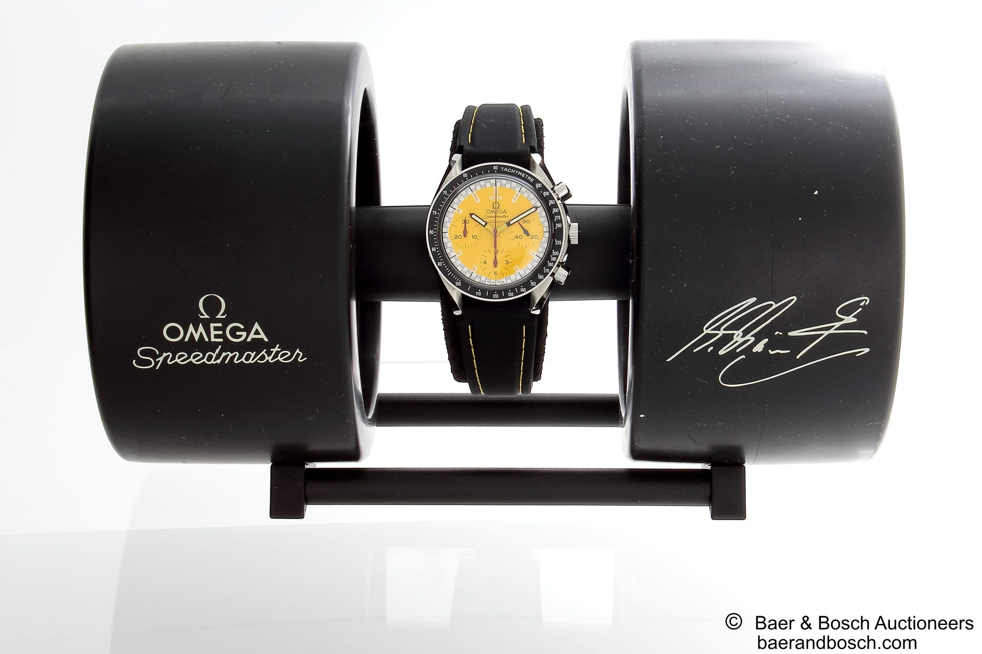Omega Speedmaster Schumacher Yellow Tire Watch Box 3510.12 - Baer & Bosch Collecting Times