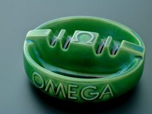 Lot #9257A – Rare Vintage Omega Porcelain Ashtray Rarities Ashtray