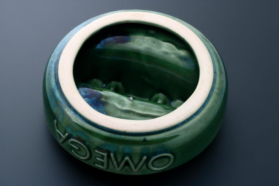 6668 Omega Vintage Green Ceramic Ashtray Baer & Bosch Watch Auctions3