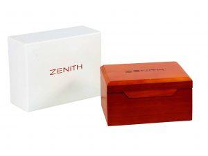 Lot #8955 – Zenith Presentation Wood Watch Box Watch Parts & Boxes Watch Box