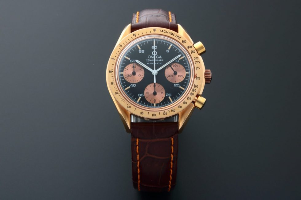 Lot #6744 – Rare 18k Rose Gold Omega 3613.50 Speedmaster Watch 3613.50 Omega 3613.50