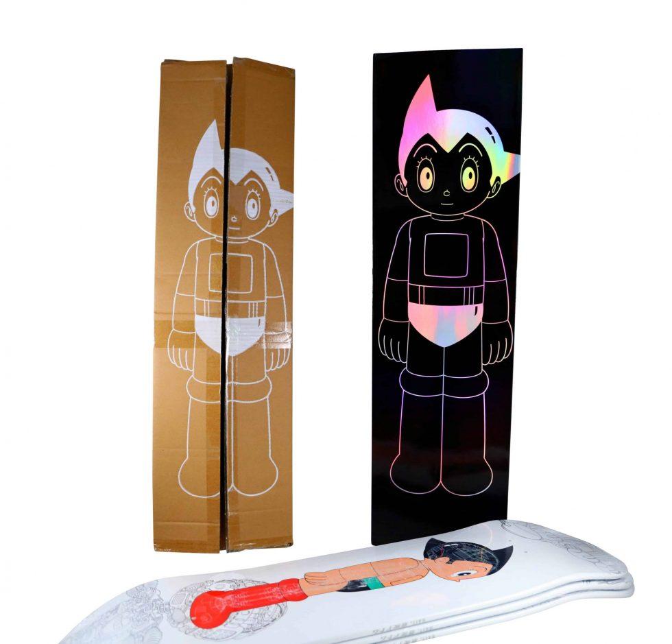 Lot #9705 – Astro Boy Bait Skateboard Skate Deck Set Limited Edition Astro Boy Astro Boy