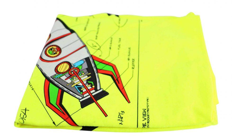 Lot #8690 – Hebru Brantley Nevermore Park Rocket T-Shirt XXL Hebru Brantley Hebru Brantley Tee Shirt