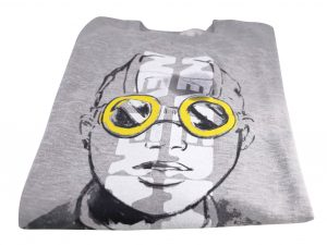 Lot #7649 – Hebru Brantley Nevermore Park Herald Flyboy Crew Neck Sweatshirt XXL Hebru Brantley Hebru Brantley