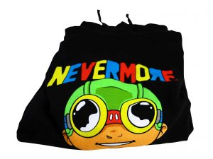 Lot #8592 – Hebru Brantley Nevermore Flyboy Icon Arch Hoodie XXL Hebru Brantley [tag]
