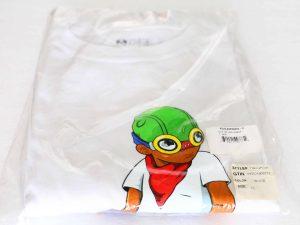 Lot #9066 – Hebru Brantley Flyboy Long Sleeve Shirt White XL Hebru Brantley Hebru Brantley