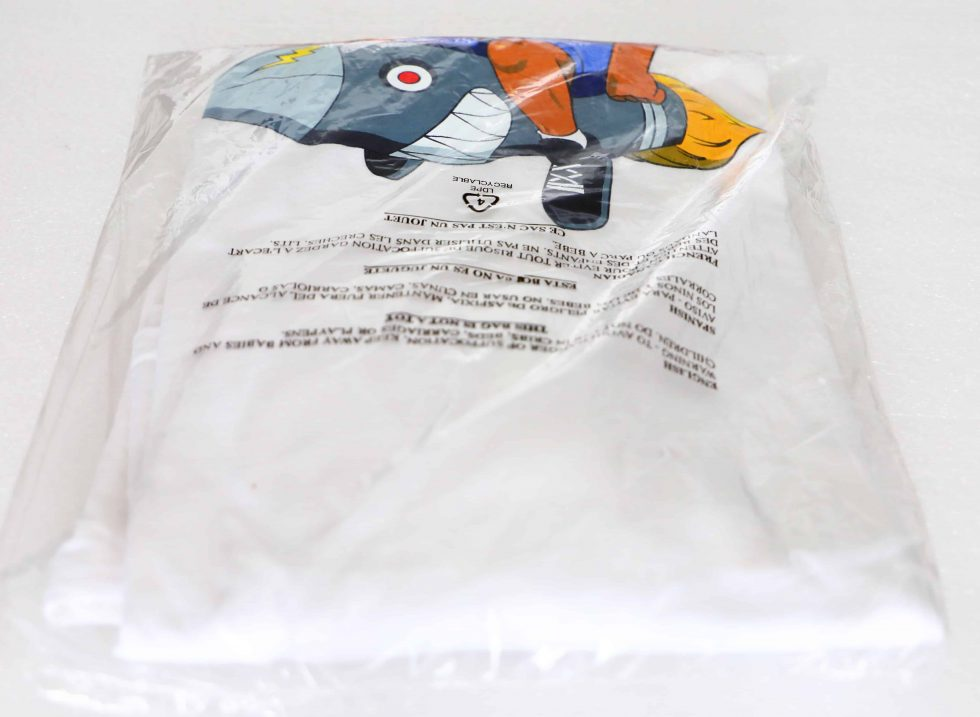 Lot #8648 – Hebru Brantley Flyboy Long Sleeve Shirt White XL Hebru Brantley Hebru Brantley
