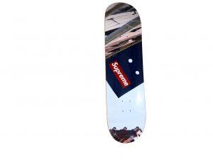 Lot #10554 – Supreme Banner Skateboard Skate Deck Skateboard Decks [tag]
