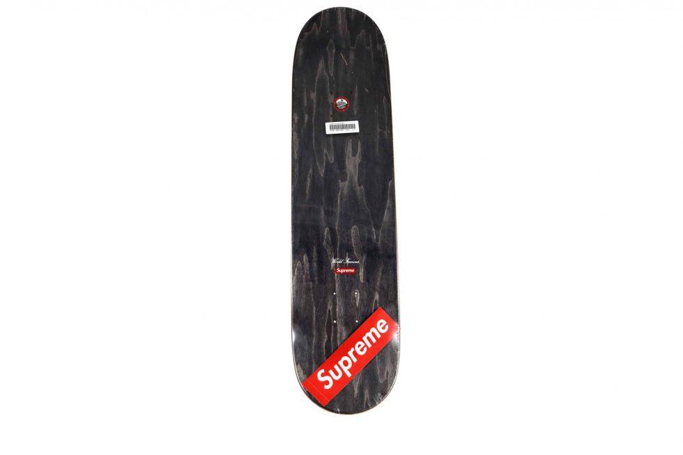 Lot #9786 – Supreme Chrome Logo Purple Skateboard Skate Deck Skateboard Decks [tag]