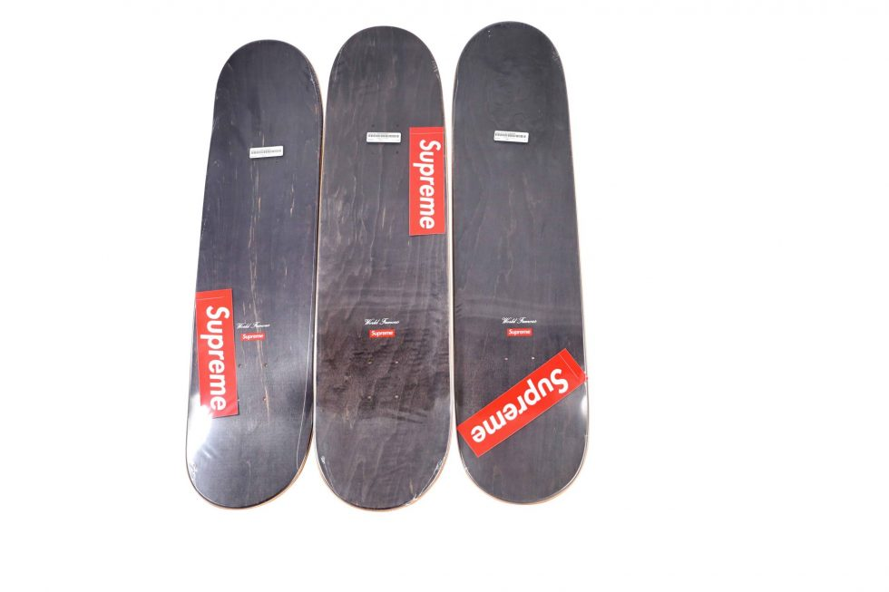 Lot #9791 – Supreme F*ck You Skateboard 3 Deck Set Skateboard Decks Deck Set